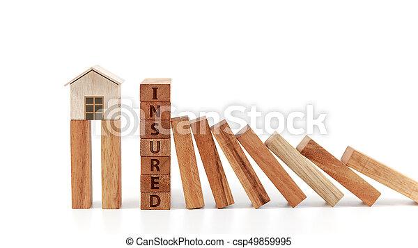 El concepto de seguro de casa - csp49859995
