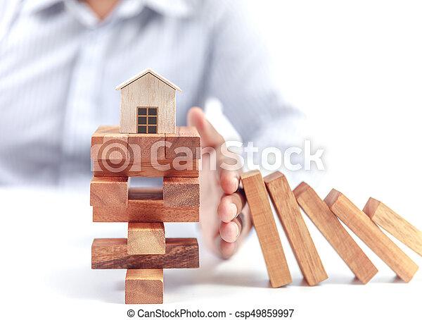 El concepto de seguro de casa - csp49859997