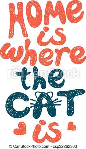 hogar, dónde, gato - csp32262368