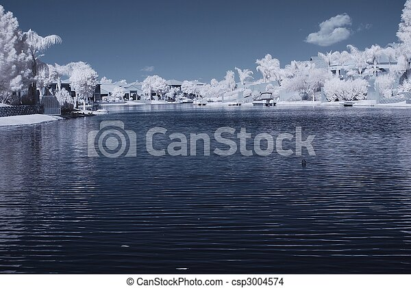 La casa del lago del desierto - csp3004574