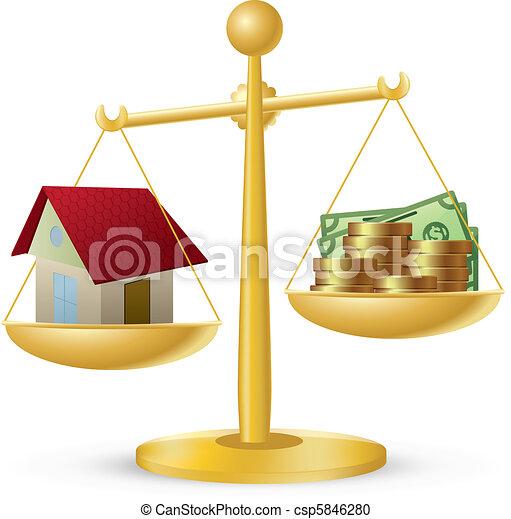 Casa y dinero - csp5846280
