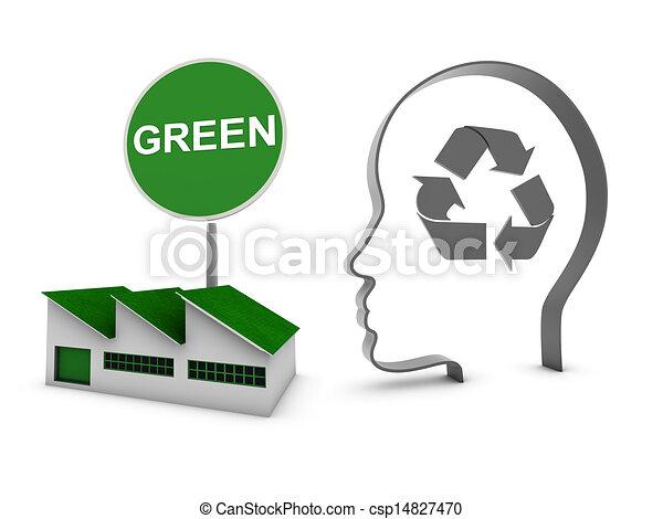 La ecología de la fábrica en casa - csp14827470