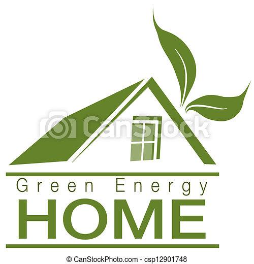 Hogar de energía verde - csp12901748