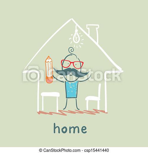 A casa - csp15441440