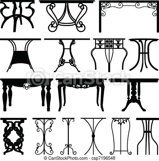 hogar, escritorio, muebles, diseño, tabla - csp7196548