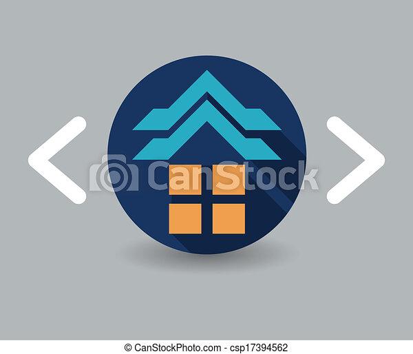 icono de casa - csp17394562