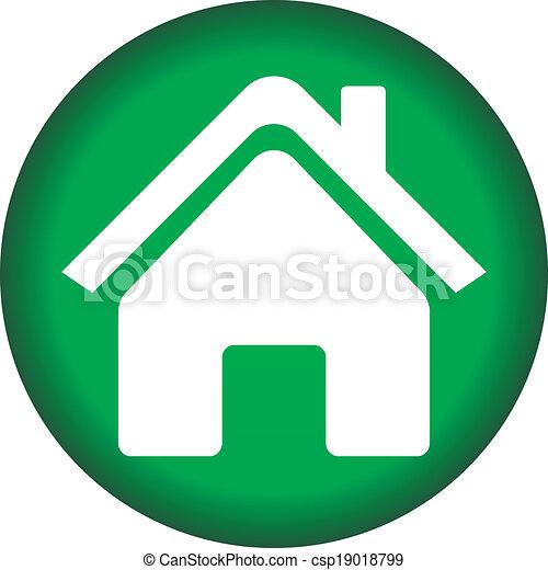 icono de casa - csp19018799