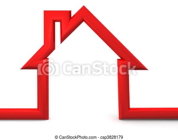 Icon a casa - csp3828179