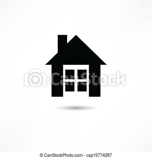 hogar, icono - csp15774287