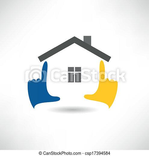 icono de casa - csp17394584