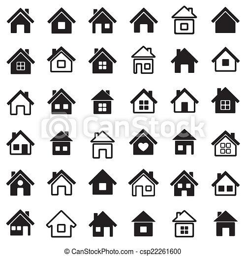 iconos caseros - csp22261600