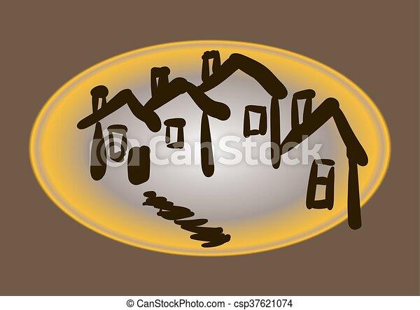 A casa - csp37621074