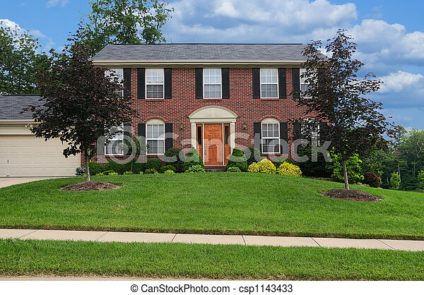 La casa de Brick suburban - csp1143433