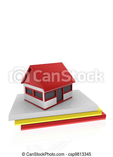 A casa en los libros - csp9813345