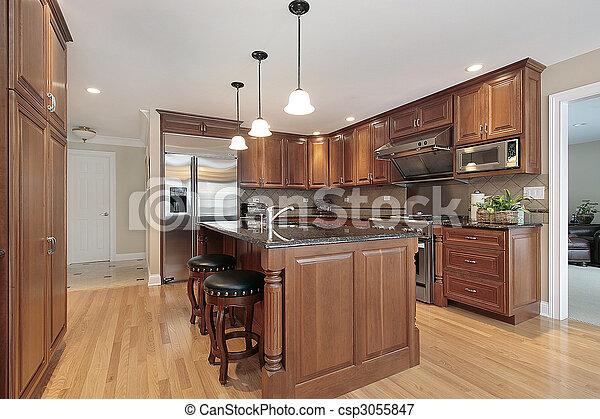 Cocina en casa de lujo - csp3055847