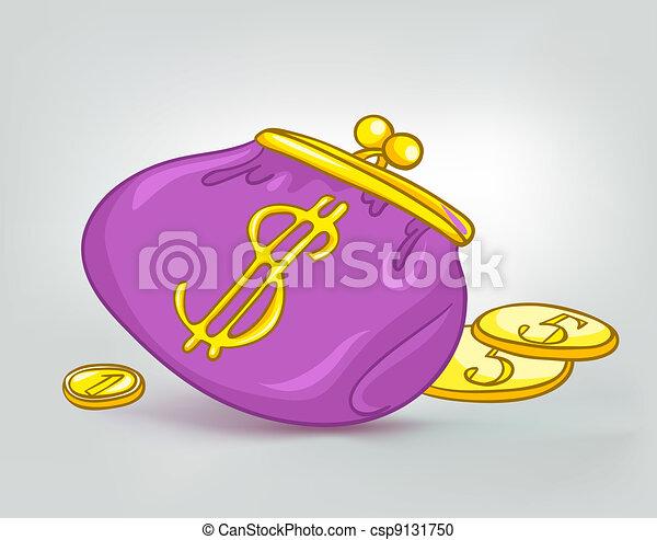 La casa de los Cartoon tiene una billetera miscelánea - csp9131750