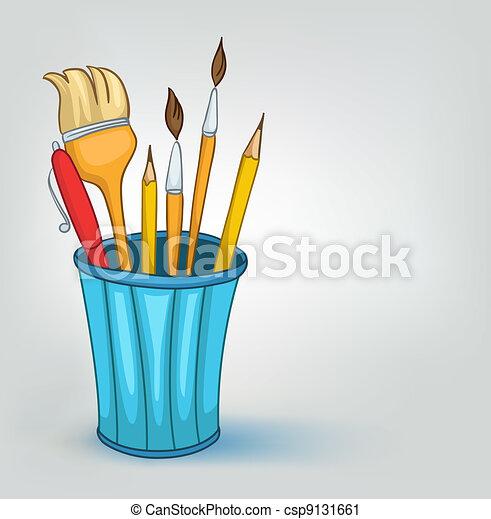Un juego de lápices de cartón - csp9131661