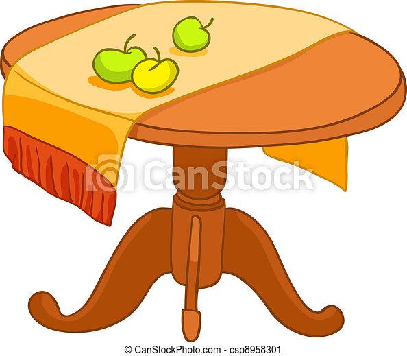 Hogar muebles caricatura tabla aislado fondo vector for Mesas de dibujo artistico