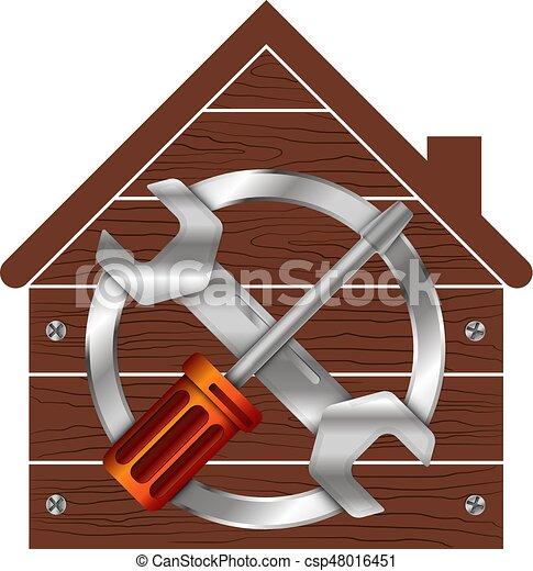 Simbolo de reparación del hogar para los negocios - csp48016451
