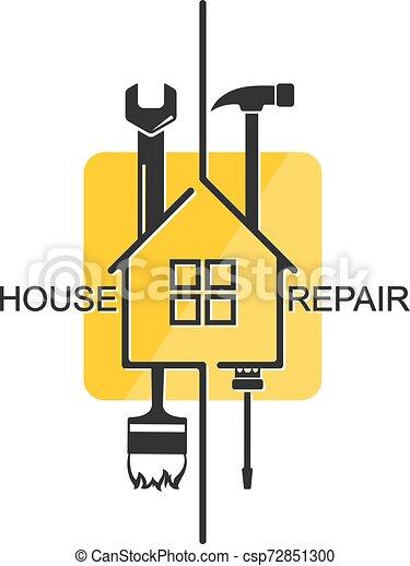Simbolo de reparación del hogar para los negocios - csp72851300