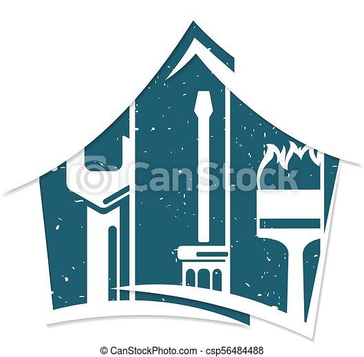 Simbolo de reparación del hogar para los negocios - csp56484488