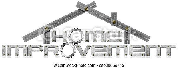 Simbolo de mejora con engranajes de metal - csp30869745