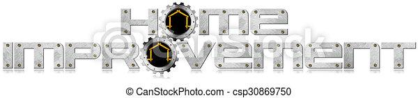 Simbolo de mejora con engranajes de metal - csp30869750