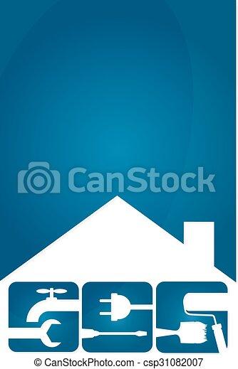 El símbolo de reparación de casas - csp31082007