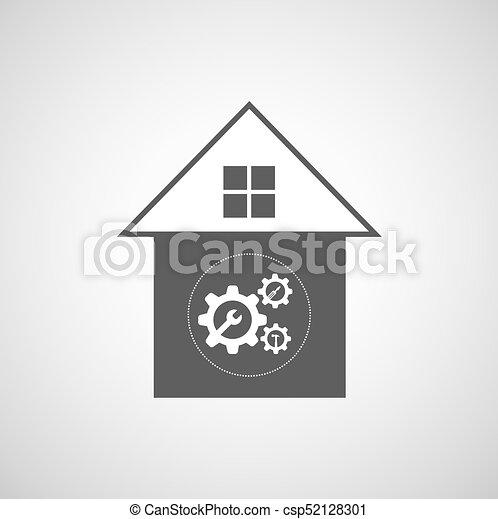 El símbolo de reparación de casas - csp52128301