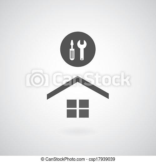 El símbolo de reparación de casas - csp17939039