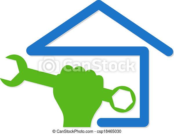 El símbolo de reparación de casas - csp18465030