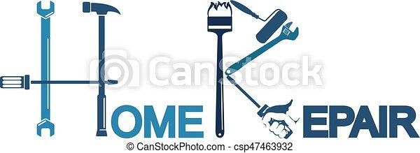 El símbolo de reparación de casas - csp47463932