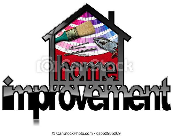 Simbolo de mejora con herramientas de trabajo - csp52985269