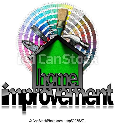 Simbolo de mejora con herramientas de trabajo - csp52985271