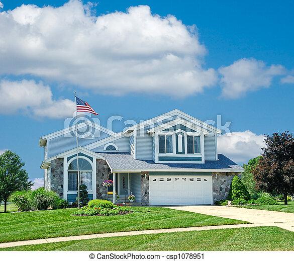 Suburban a casa - csp1078951