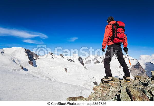 hoge hoogte, wandelende - csp2354726