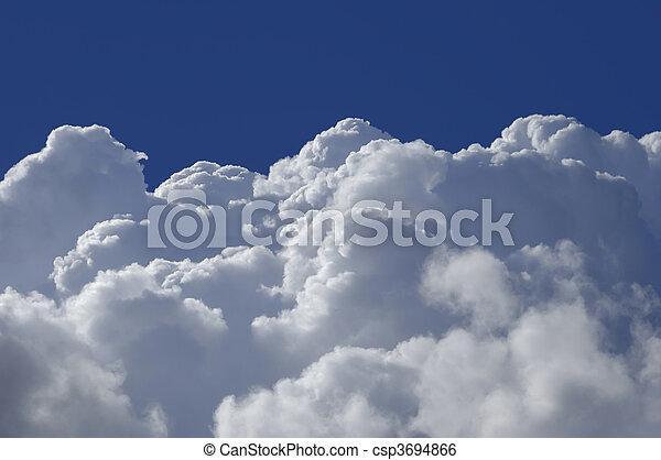 hoge hoogte, wolken - csp3694866