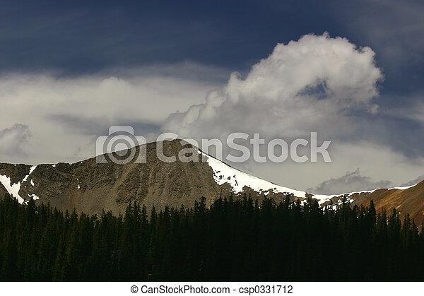 hoge hoogte, wolken - csp0331712