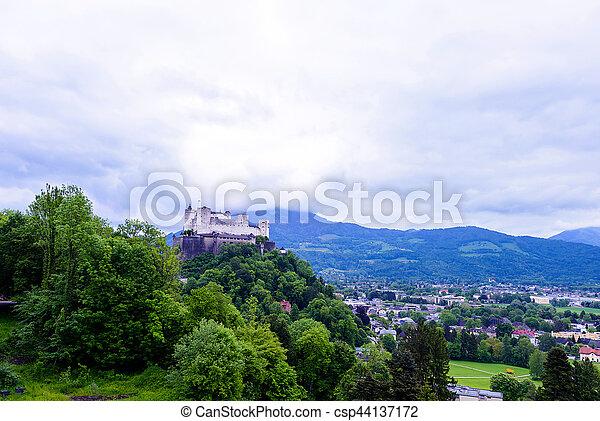 hohensalzburg, 著名的地方, 遺產, 連合國教科文組織, 要塞 - csp44137172