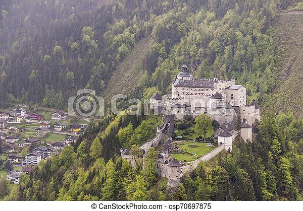 Hohenwerfen Castle - Austria - csp70697875