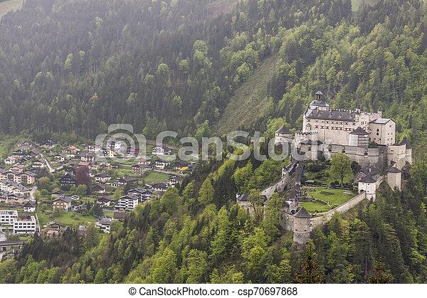 Hohenwerfen Castle - Austria - csp70697868