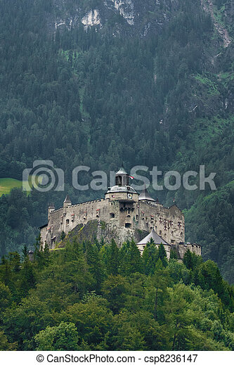 Hohenwerfen castle in Austria - csp8236147
