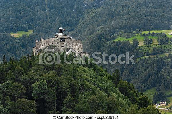 Hohenwerfen castle in Austria - csp8236151