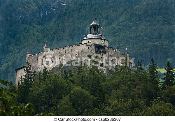Hohenwerfen castle in Austria - csp8236307