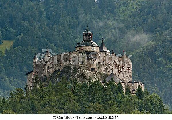 Hohenwerfen castle in Austria - csp8236311