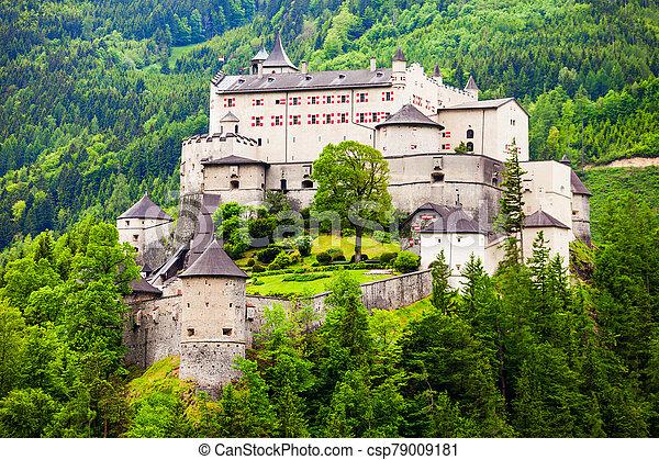 Hohenwerfen Castle in Austria - csp79009181