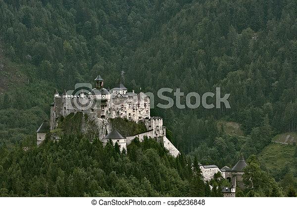 Hohenwerfen castle in Austria - csp8236848