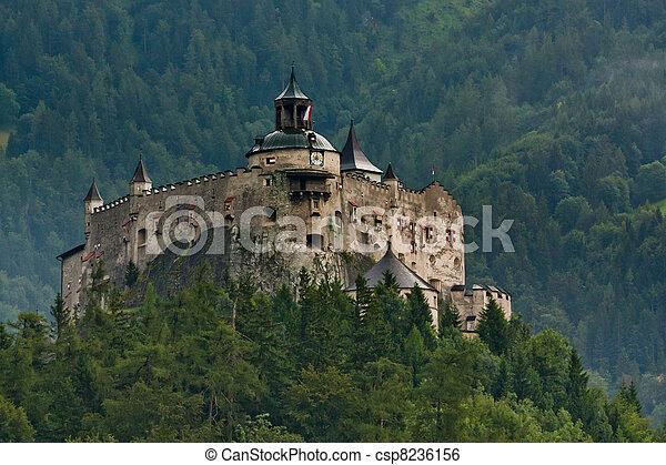 Hohenwerfen castle in Austria - csp8236156