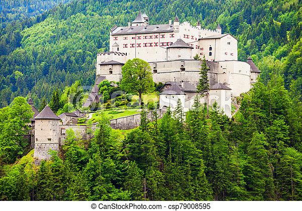 Hohenwerfen Castle in Austria - csp79008595