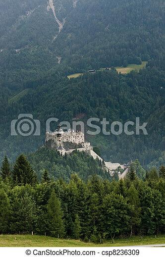 Hohenwerfen castle in Austria - csp8236309
